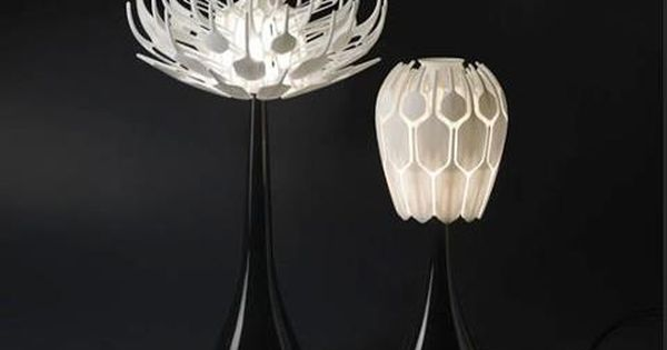 Patrick Jouin S 3d Printed Bloom Table Lamp Opens Like A Flower