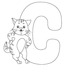 Top 30 Free Printable Cat Coloring Pages For Kids Animal Letters