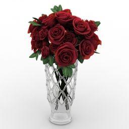 3d Decoration Ware Vase Roses N110413 3d Model 3ds For Interior 3d Visualization Vase 3d Model 3d Decor