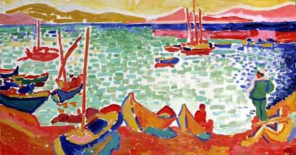 Henri matisse 1905 boats in the port of collioure for Matisse fenetre ouverte collioure