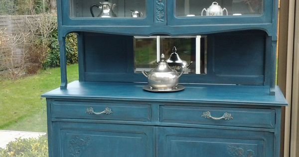 buffet deux corps art d co patin bleu aubusson meubles et rangements par meuble et patine. Black Bedroom Furniture Sets. Home Design Ideas