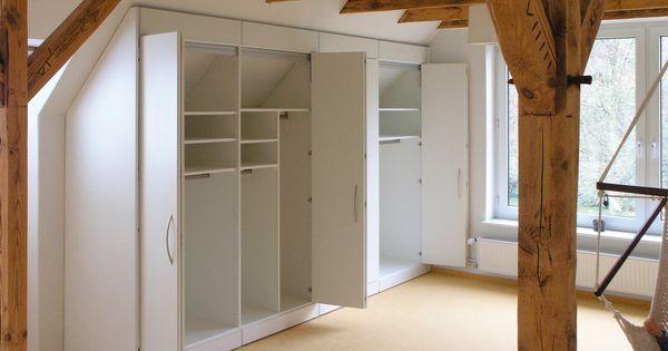 m bel schr nke regale f r die dachschr ge ma arbeit in. Black Bedroom Furniture Sets. Home Design Ideas