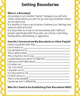 Personal Boundaries Adolescent Therapy Therapy Worksheets Counseling Activities