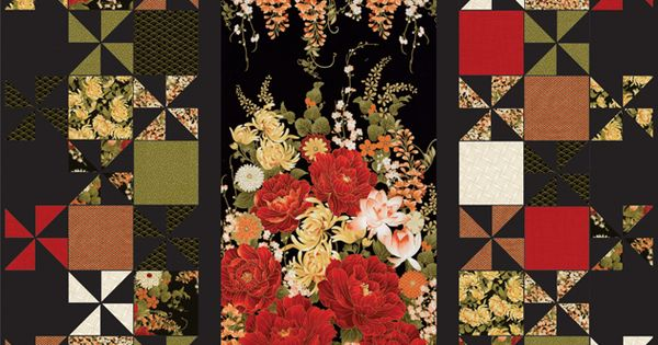 Timeless Treasures - Imperial Garden by Chong-a Hwang - Grand Central Quilt by Swirly Girls ...