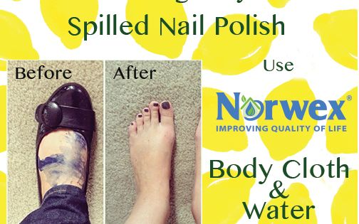 how to clean up spilled nail polish on carpet