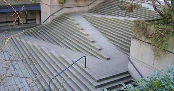 Stair/Ramp at Robson Square in Vancouver. What a great idea!
