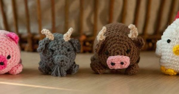 Free Crochet Pattern Farm Animals : Cand.Selv: Farm animals as cuddly balls (Free Crochet ...