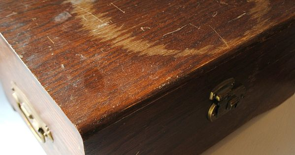 Worth trying..........How to restore scratched and worn wood. Another pinner says: for