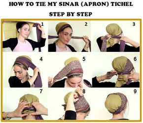 How To Tie My Sinar Tichel How To Wrap A Head Scarf Hair Snood Head Scarf Head Covering Jewish Headcovering Scarf Bandana Apron Hair Snood Head Scarf Tying Scarf Hairstyles