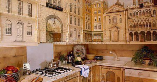 Renaissance mural kitchen design idea! www.planese.com