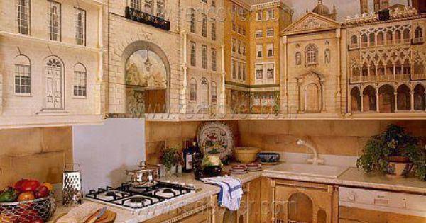 Renaissance mural kitchen design idea! www.planese.com