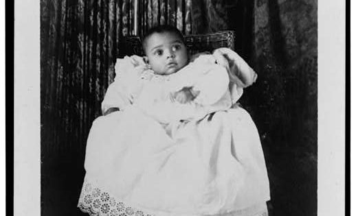 African American Baby Wearing Christening Gown 1899 Or