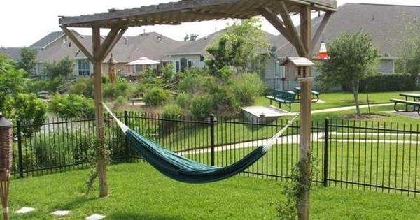 small backyard hammock