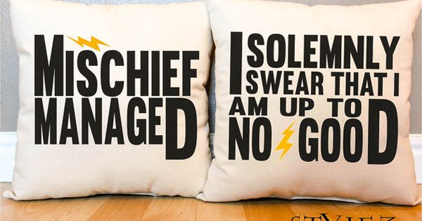 "3 Styles - Harry Potter ""I Solemnly Swear/Mischief Managed"" Marauder's Map Pillow"