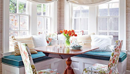 "Decor Refresh. ""In this breakfast nook, traditional style takes the helm. An"