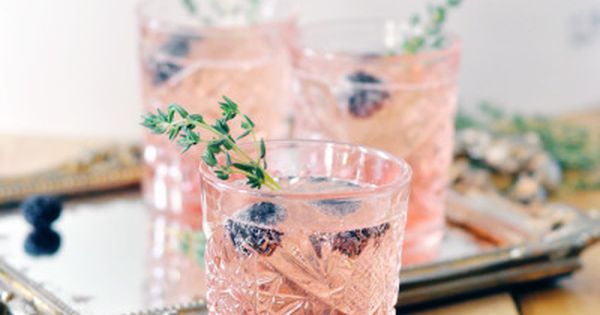 Blackberry Thyme Champagne Cocktail | Recipe | Blackberries, Cocktails ...