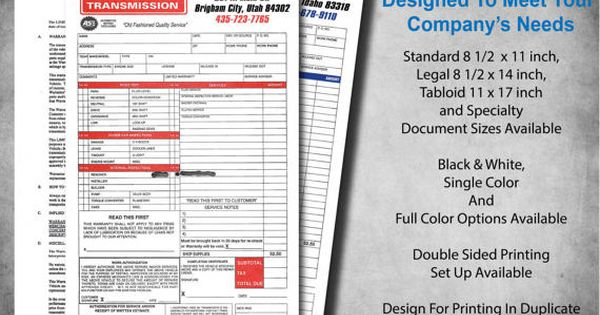 Custom Form Design by MoonSignDesignCo on Etsy Forms \ Invoices - duplicate order form
