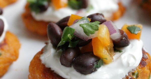 Sweet Potato Cakes with Black Bean Salsa // Top 10 Elegant Appetizers