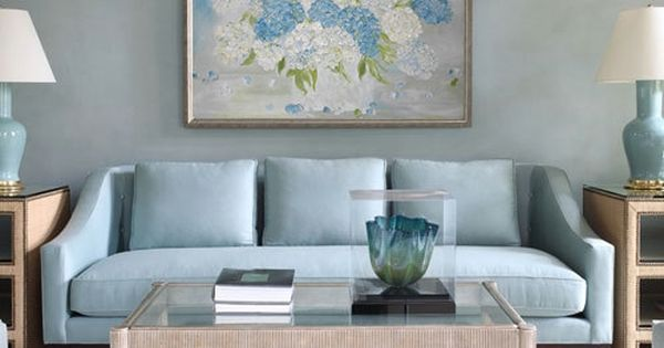 Hydrangea Painting Original Hydrangea Painting Custom Etsy Blue Sofa Living Blue Couch Living Room Blue Living Room