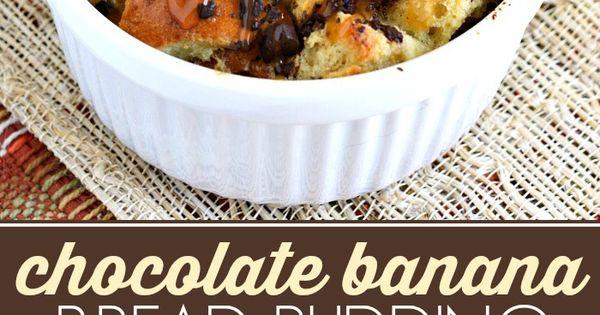 Chocolate Banana Bread Pudding Recipe #ChocolateHistory #IC (ad) @ ...
