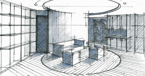 croquis d 39 un concept en cylindre au centre d 39 un appartement philippe ponceblanc architecte d. Black Bedroom Furniture Sets. Home Design Ideas