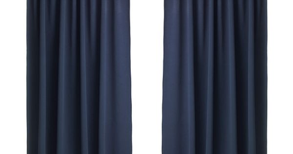 Cortina azul opaca habitaci n guille pinterest - Cortinas ikea habitacion ...