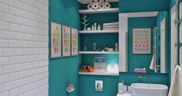 Pintura y baldosas para un cuarto de ba o juvenil b a for Pintura baldosas bano