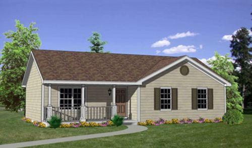 Casa De 3 Dormitorios Con Techo A Dos Aguas Ranch Style House Plans Ranch Style Homes Cottage Style House Plans