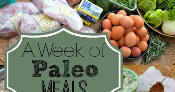 A Week of Paleo Meals from And Here We Are... What a week of paleo meals looks like, practically speaking, for a family of three on a budget. This includes three meals a day, including packed lunches for work and school. paleo mealplanning budgetfriendly