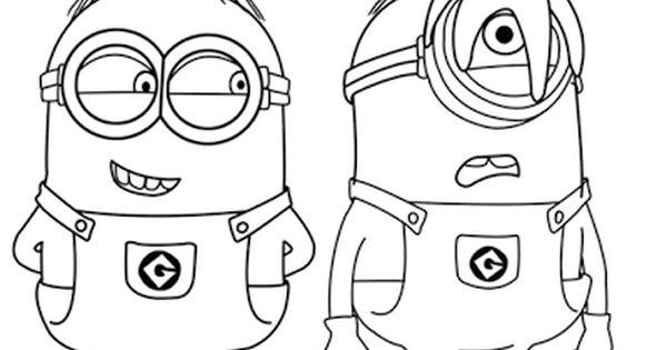 Aneka Gambar Mewarnai 10 Gambar Mewarnai Minions Untuk Anak Paud