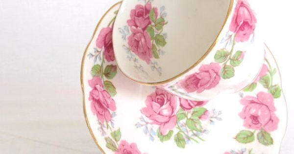 teacup saucer queen ann bone china england lady alexander. Black Bedroom Furniture Sets. Home Design Ideas