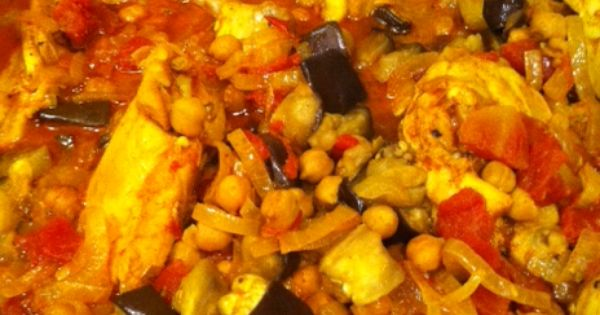 Moroccan chicken, Eggplants and Almonds on Pinterest