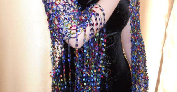 Knit Scarf Pattern Ladder Yarn : PDF Knit Ribbon Yarn Shawl Pattern by CelestesTreasures on Etsy, USD1.59 ladd...