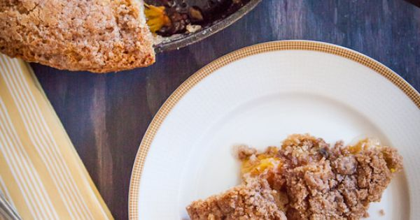 Sugar Roasted Peach and Blueberry Bacon Infused Buckle | Recipe ...