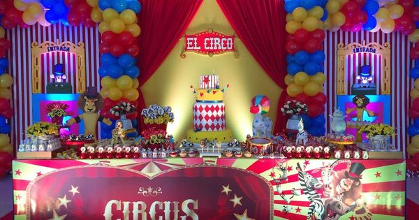 Circus carnival birthday party ideas circus birthday - Carnival party menu ...