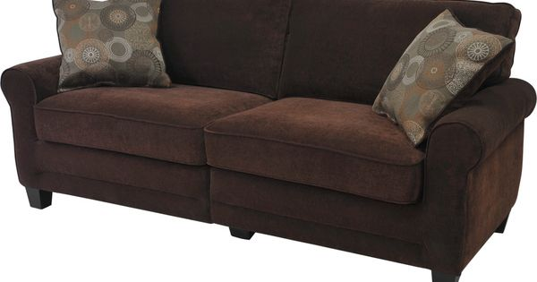 Serta Trinidad Collection Chocolate Deluxe Sofa Overstock Shopping Great Deals On Serta