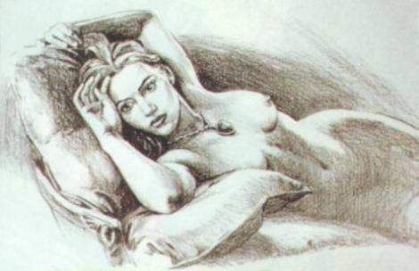 Titanic Nude Drawing Scene