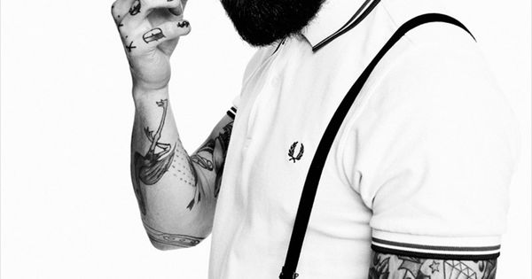 Can't get our eyes off Ricki Hall - a fabulous beard AND