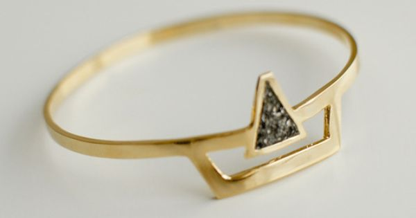 SURYA CUFF jewellery triangle gold fashion trends style accessories