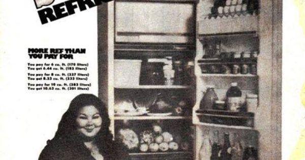 Cecil Iñigo a.k.a. Dabiana, endorsing Sharp Refrigerators. | Old Philippine Print Advertisements ...