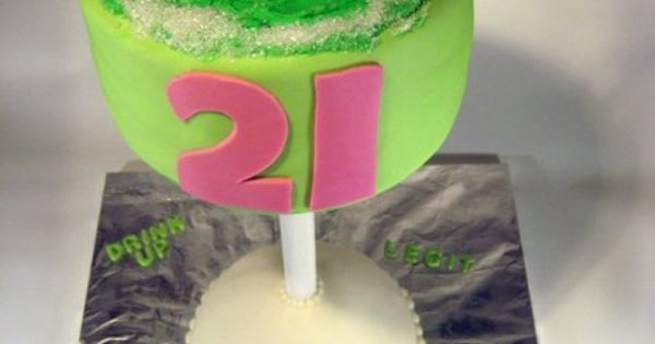 21 birthday cake in a glass!