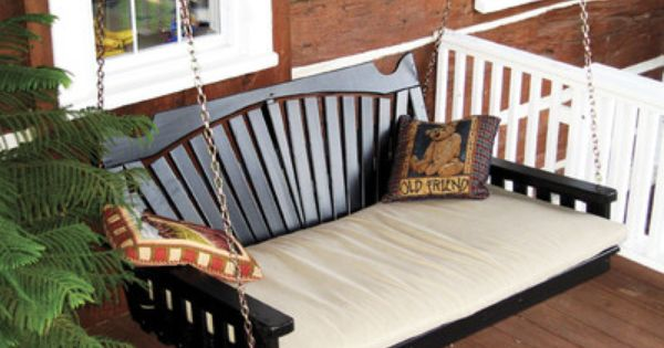Outdoor 5 Foot Fanback Porch Swing Bed 8 Stain Options 5 Ft Oversized Swing Porch Swing Bed Bed Swing Porch Swing