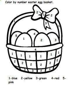 Easter Color By Numbers Easter Worksheets Easter Preschool Easter Colors
