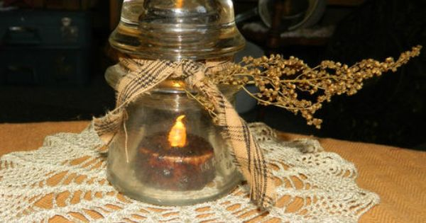 Vintage Insulator Turned Decorative Candle Cover