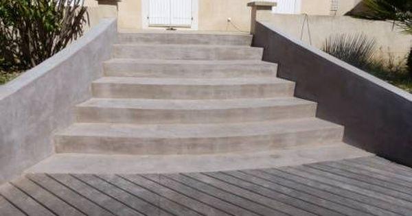 Beton Cire Sur Escalier Exterieur La Seine Sur Mer Revetement Escalier Escalier Exterieur Escalier Exterieur Beton