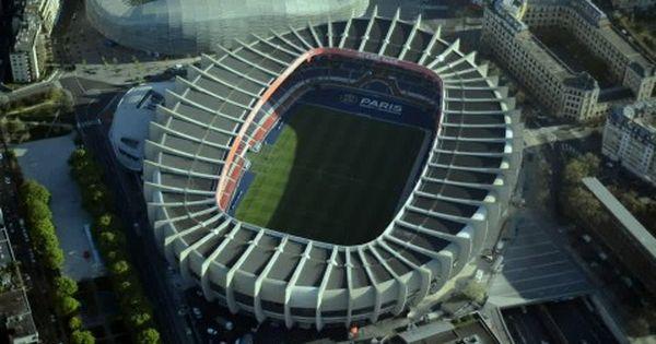 Stade Jean Bouin Parc Des Princes Paris Aerial Hd Stock Video 158 718 395 Framepool Stock Footage Park Parc Des Princes Stadium