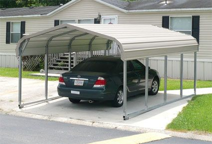12 X 21 X 5 Standard Eco Friendly Steel Carport Installation Included Metal Carports Metal Buildings Pergola Carport