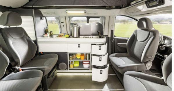 innenraum des campingbus westfalia peugeot expert tepee. Black Bedroom Furniture Sets. Home Design Ideas