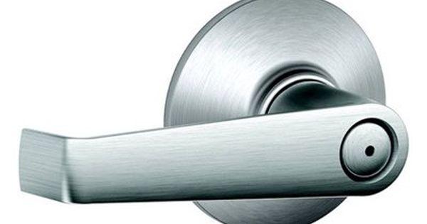 Schlage Elan Chrome Universal Push Button Lock Residential Privacy Door Lever Schlage