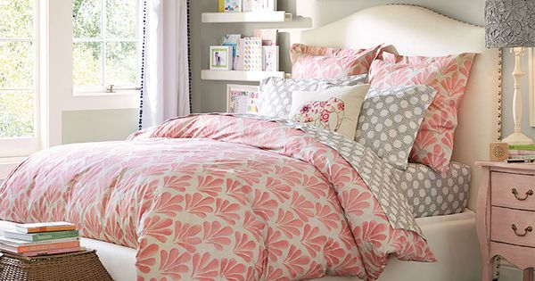 Grey, pink, white color scheme Teenage Girl Bedroom Ideas | Whimsy |